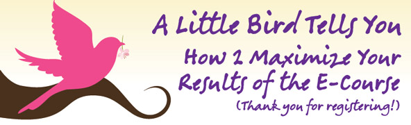 30 Days E-Course - Maximize Your Results of the E-Course